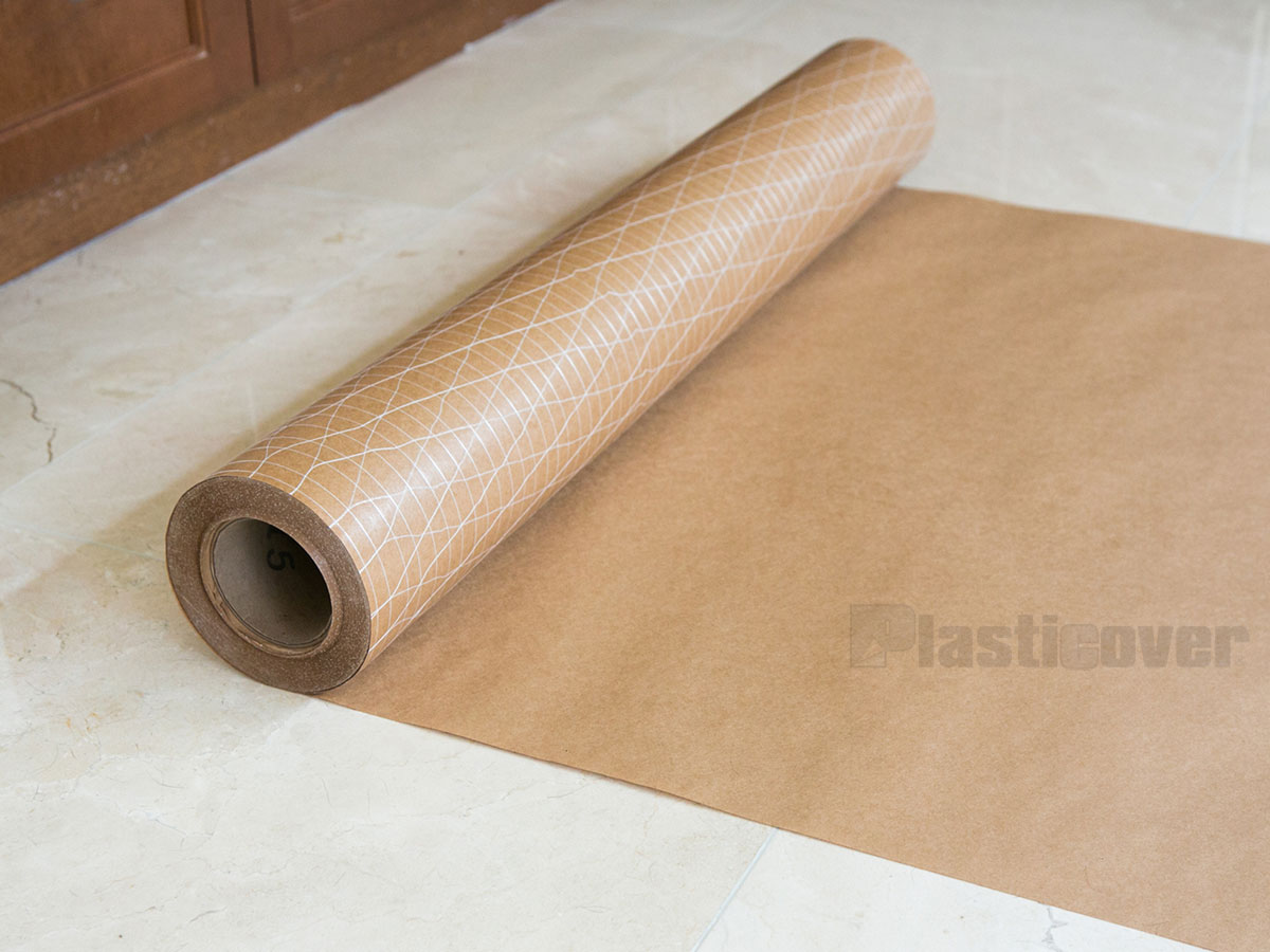 Hardwood Floor Protection hardwood stair protection Reinforced Kraft Paper