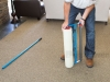 Inserting Roll Into Carpet Film Applicator