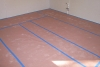 Floor Protection with Red Rosin Paper
