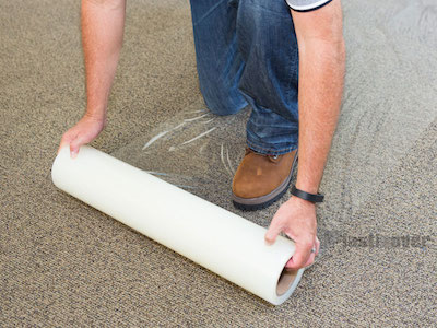 Cover To Protect New Carpet