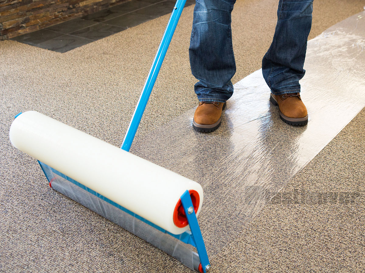 Carpet Protector Film On Optional Licator