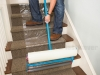 Carpet Protection Film Down Stairs Using Applicator